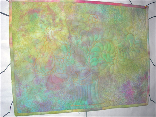 Mom's hand-dyed wholecloth