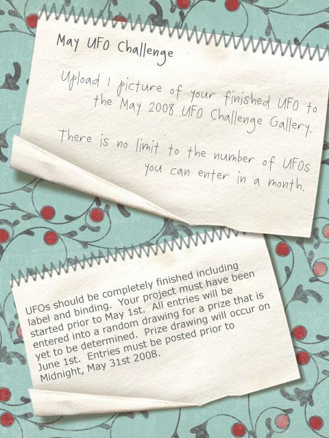 May UFO Challenge Information