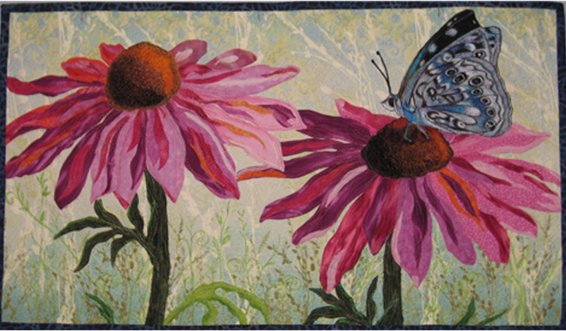 Butterfly On A Cone Flower 40x28
