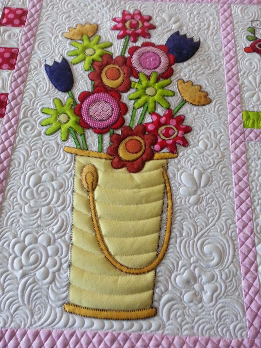 Spring quilt closeup