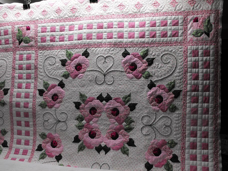 Linda's quilt- Rambling Rose